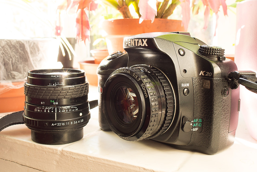 Pentax 50mm f1.7 and Sigma 24mm f2.8