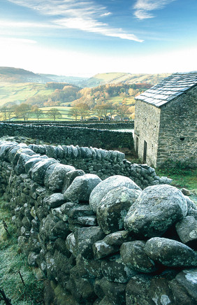 Frosty Wall and Barn, Wharfedale