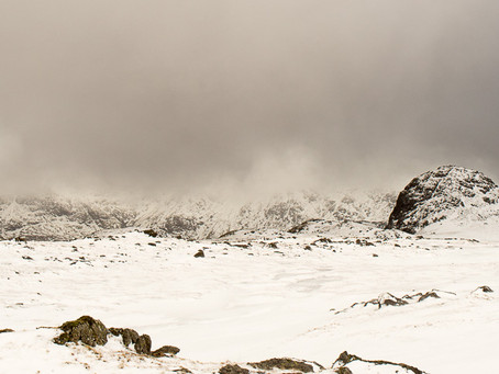 The Sublime - the Langdale Pikes in winter