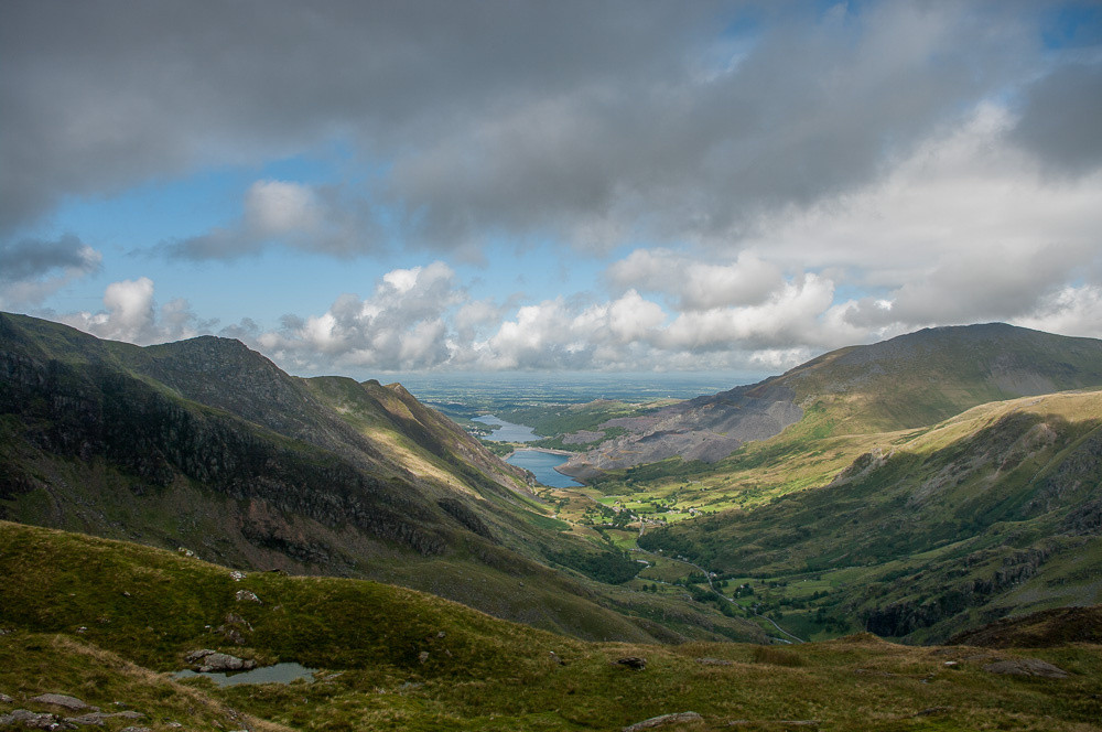 The view back to Llanberis