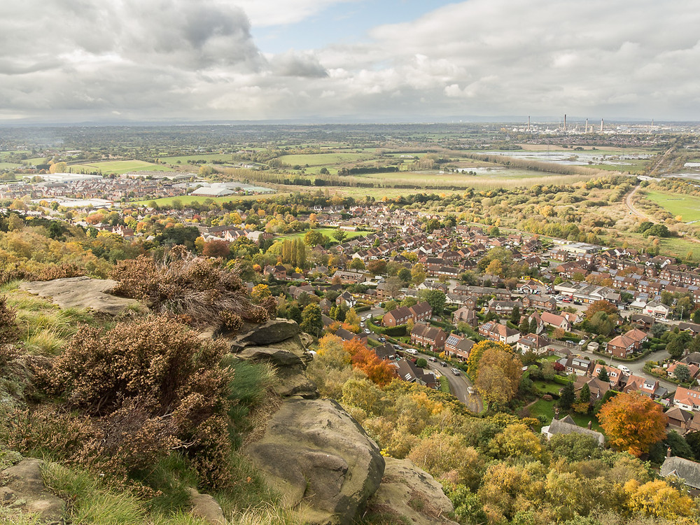 The view west-ish from Helsby Hill