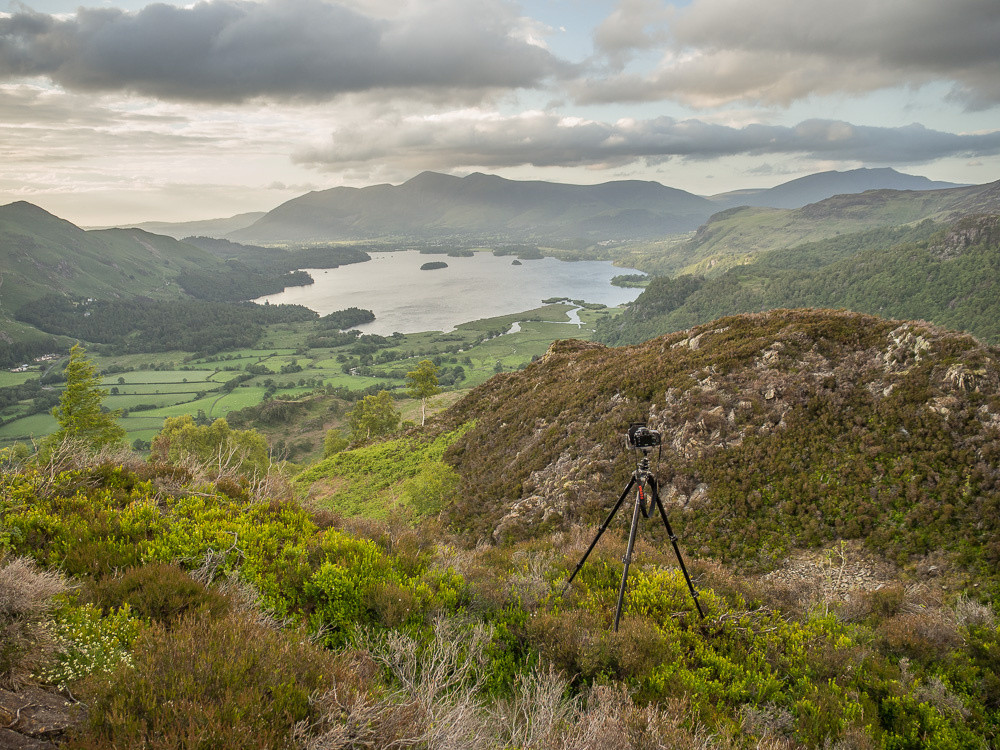 At work - the camera looking towards Derwentwater and Skiddaw