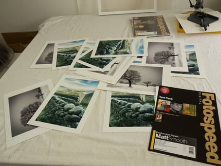 Things to do at home - testing Fotospeed Matt papers