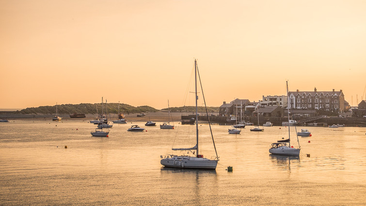 Barmouth Harbour Sunset