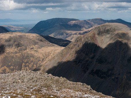 Pen by Thor's Buttress to Scafell Pike