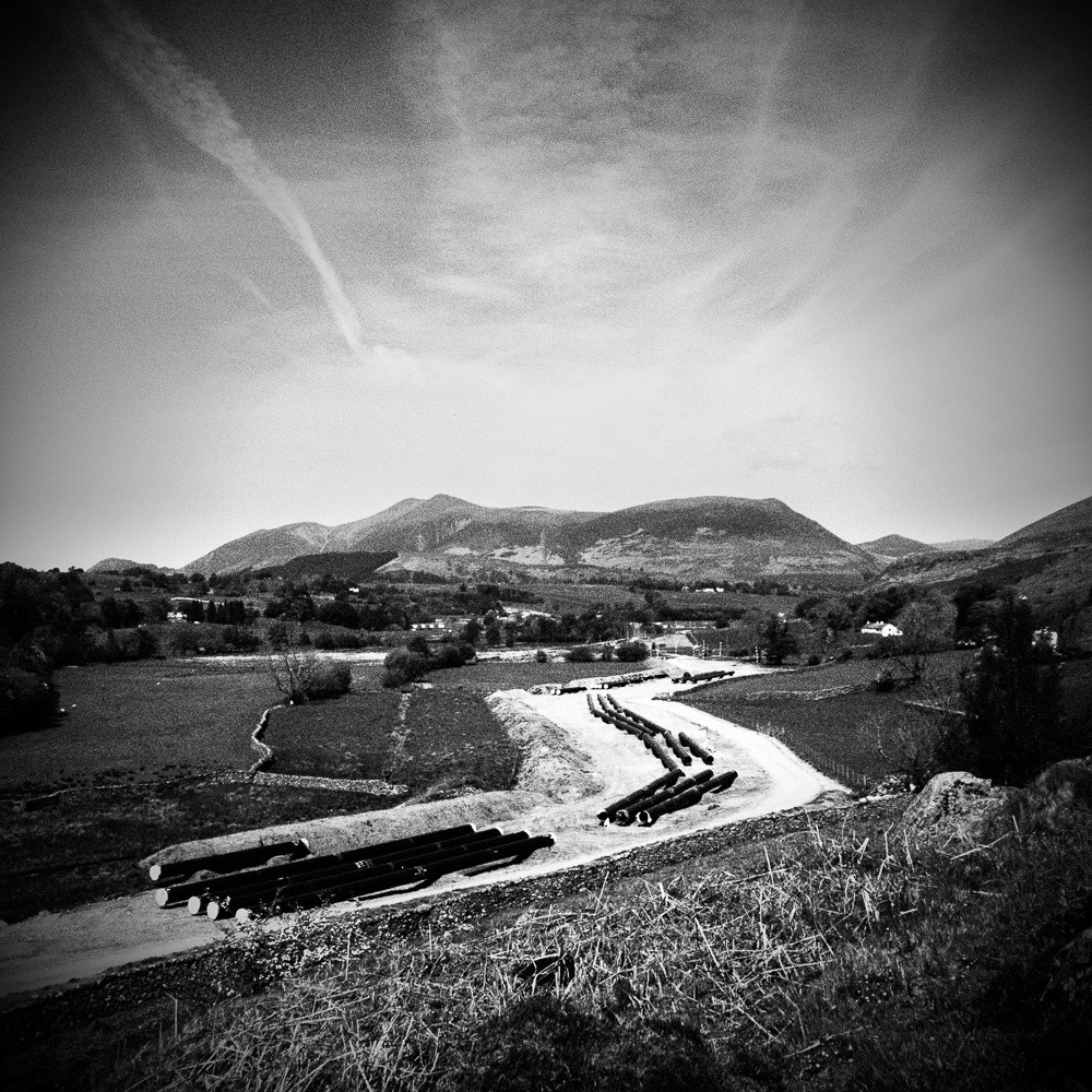 "A view of Skiddaw shot using the Olympus OMD-EM10 ""high grain with pin-hole"" scene mode."