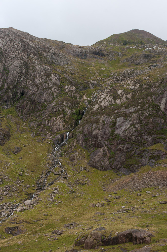 The ascent route out of Cwm Glas