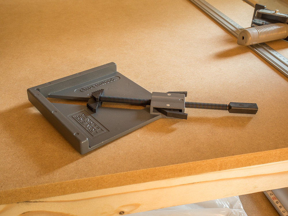 The clamp, with the plastic threaded rod that seems like it might be a weak point