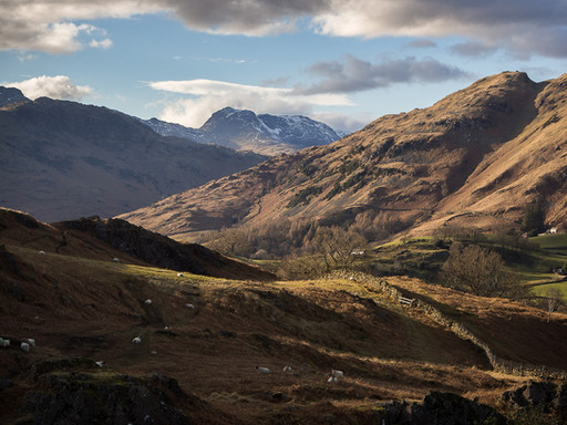 Bowfell from Little Langdale