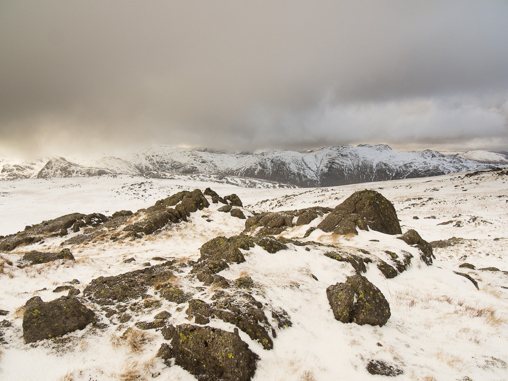Looking north from the top of the Langdale Pikes