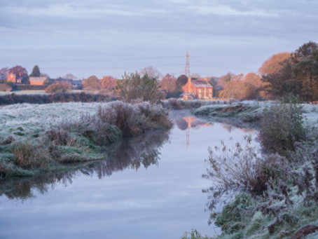First frost in Cheshire