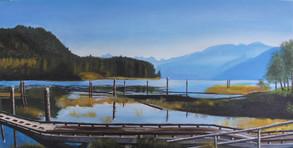 """Jackie Versfelt """"A Beautiful Day at Pitt Lake"""""""