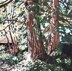 Sheila Van Delft - Two Cedars by the Well House