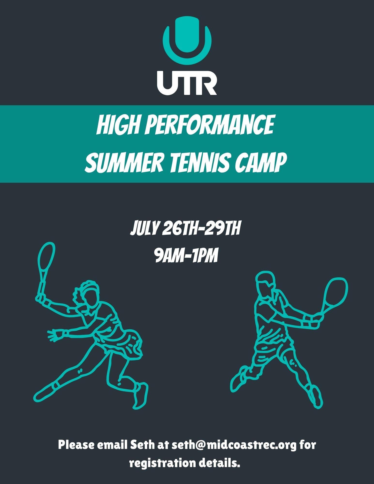High Performance Tennis Camp