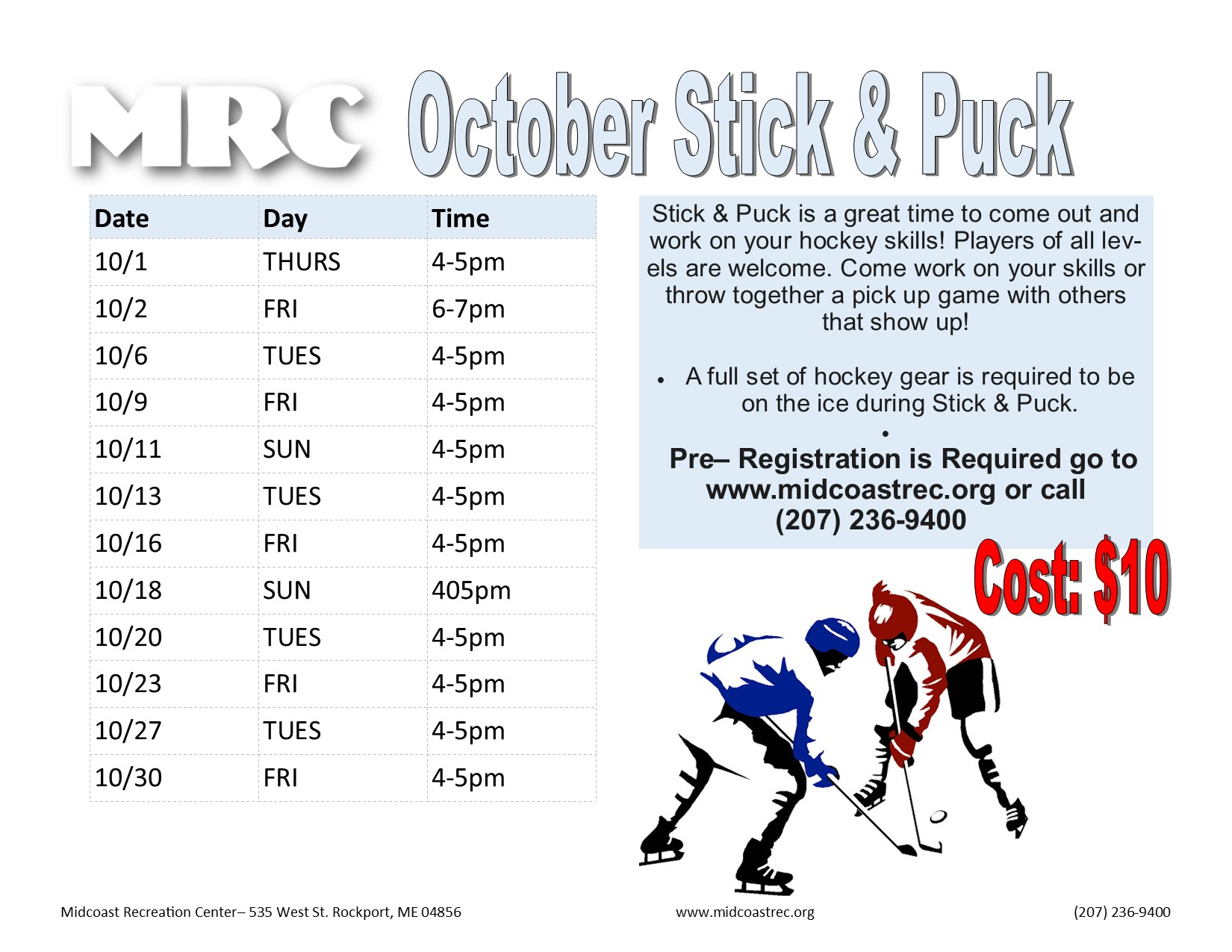 October 2020 Stick & Puck