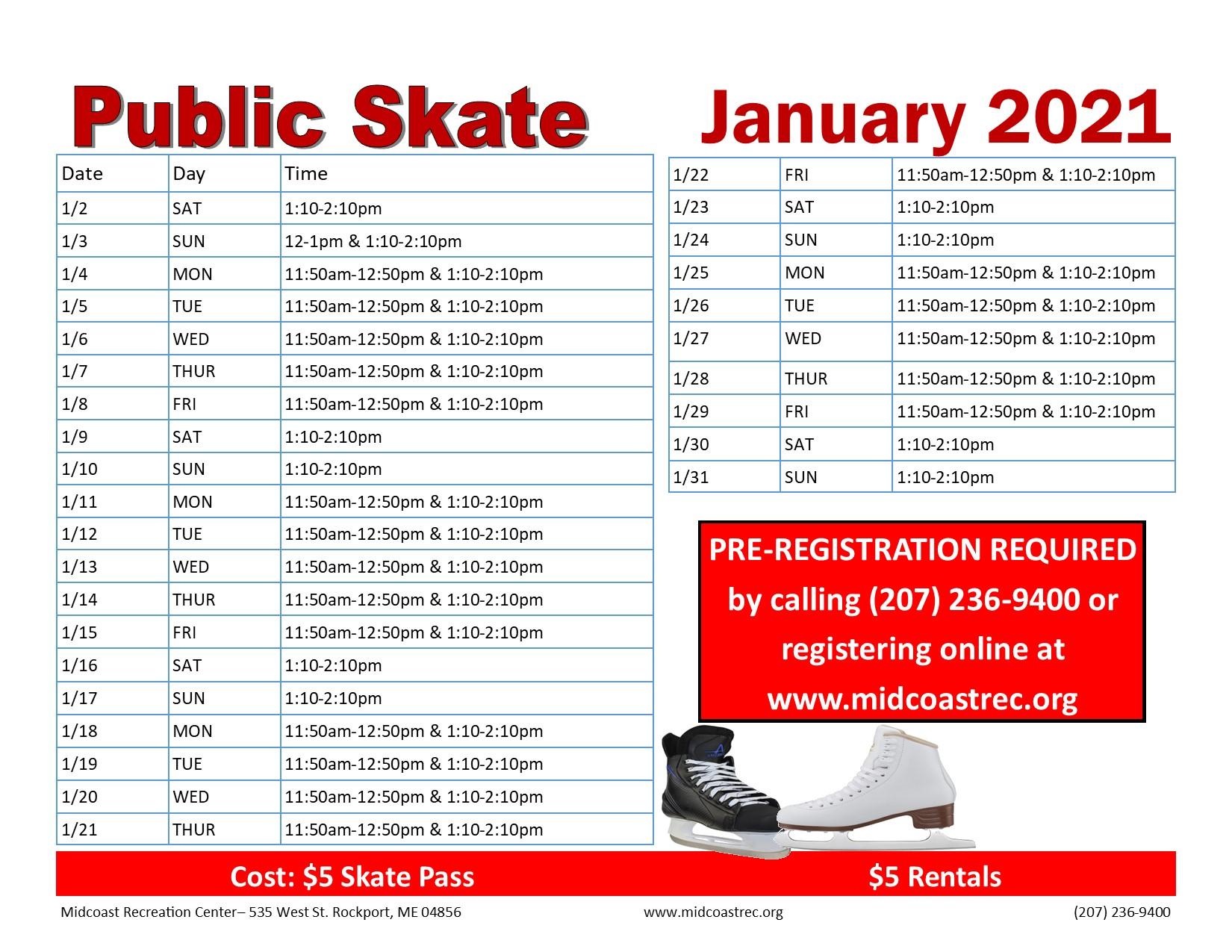 January Public Skate 01012021