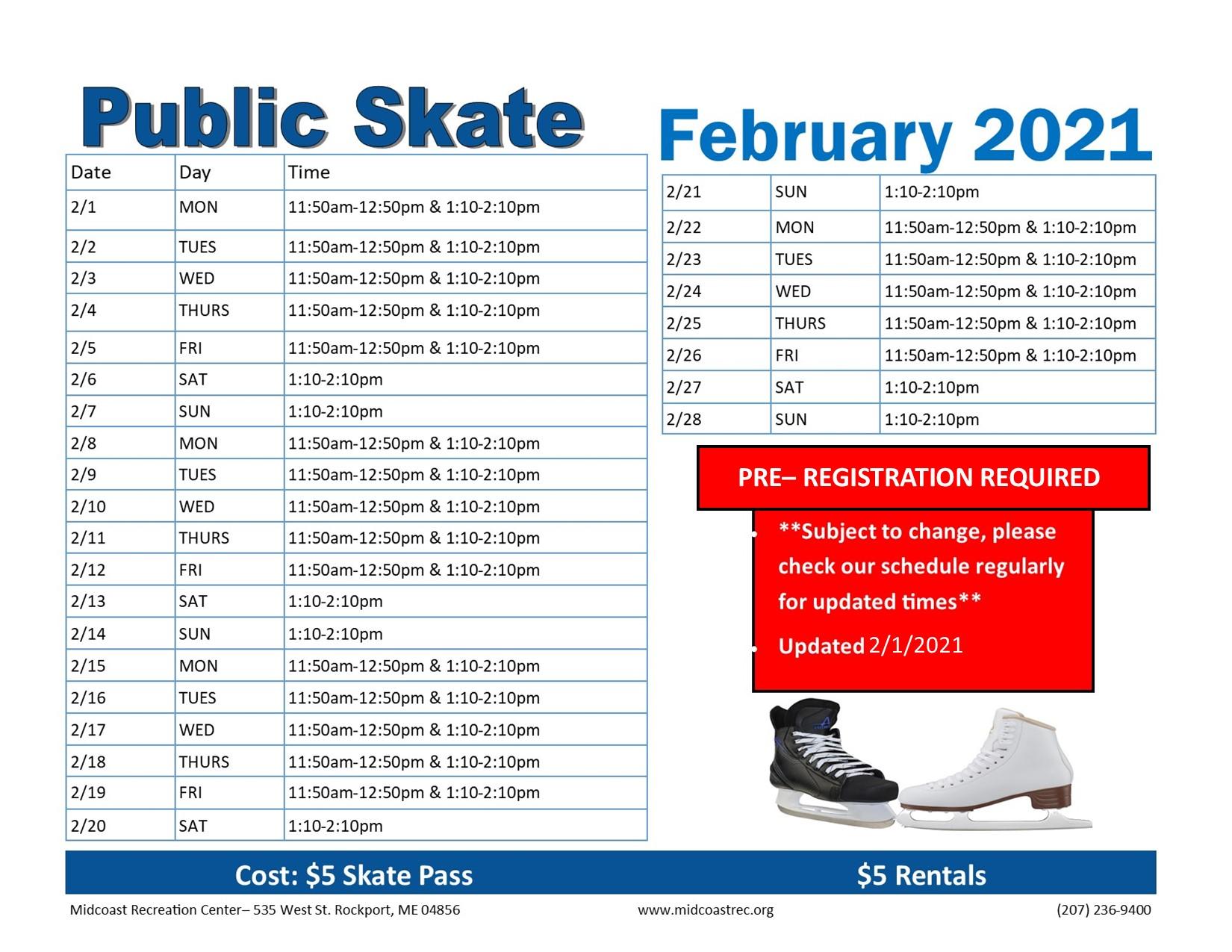 February Public SKate 02122021