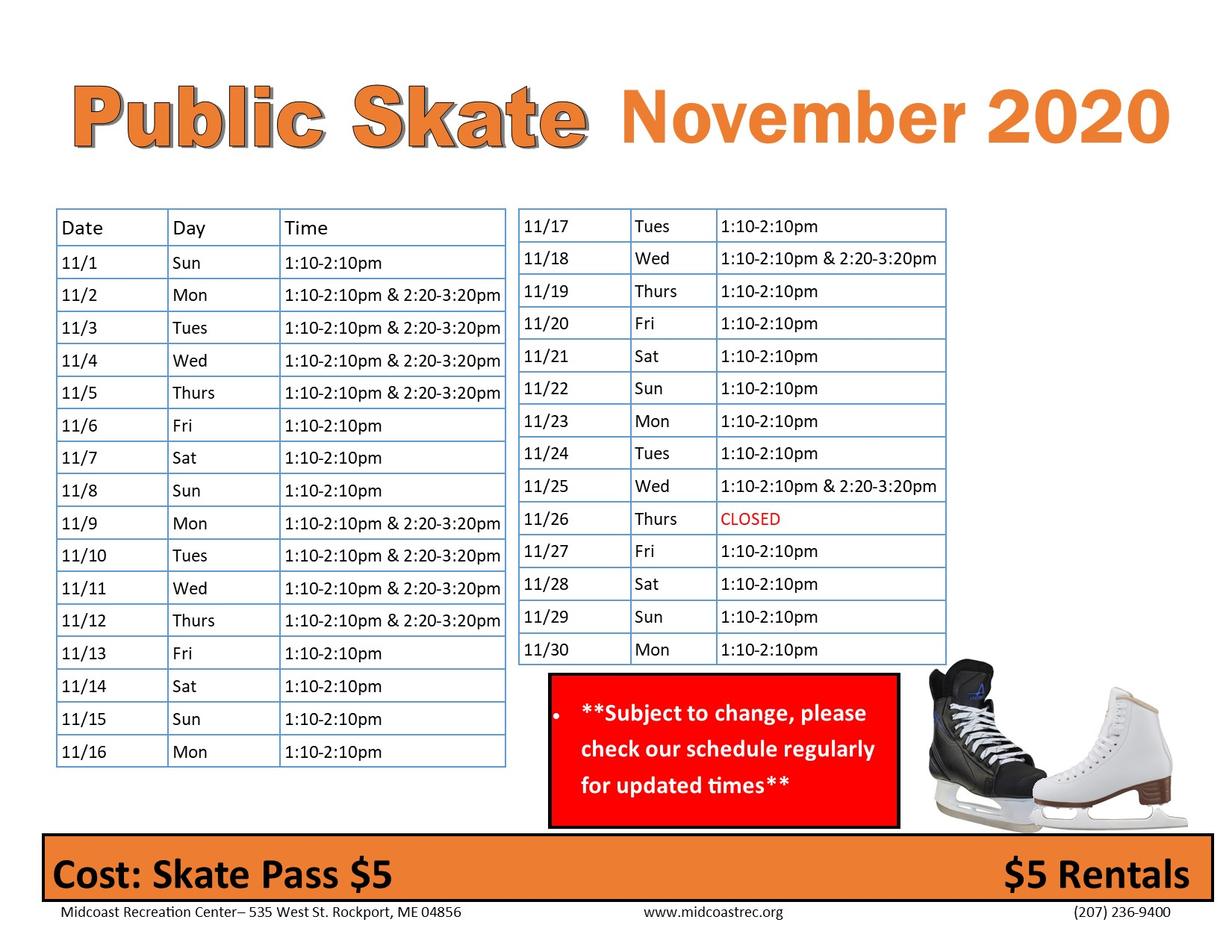 November Public Skate 11022020