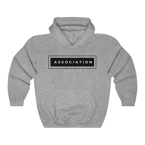 Black Graphic Bad Bitch Association Heavy Blend™ Hooded Sweatshirt