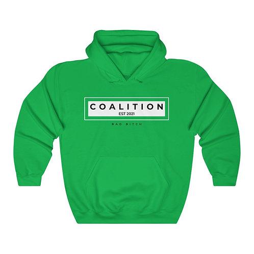 White Bad Bitch Coalition Unisex Heavy Blend™ Hooded Sweatshirt