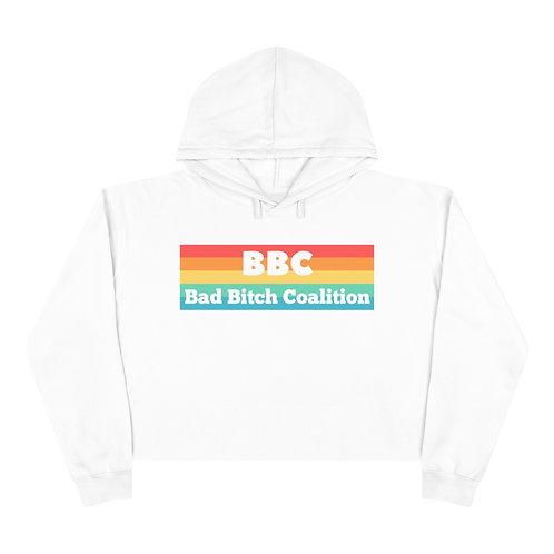 Pride Bad Bitch Coalition Crop Hoodie