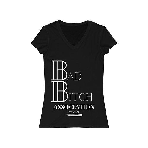 Bad Bitch Association Jersey Short Sleeve V-Neck Tee