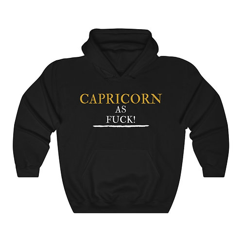 Capricorn As Fuck Unisex Heavy Blend™ Hooded Sweatshirt