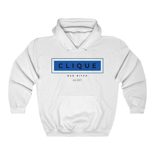 Blue Bad Bitch Clique Unisex Heavy Blend™ Hooded Sweatshirt