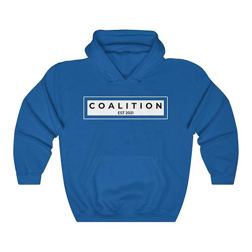 White Graphic Men's Coalition Heavy Blend™ Hooded Sweatshirt