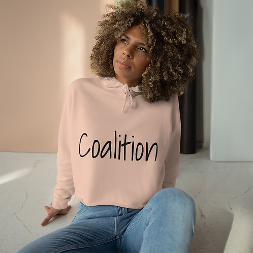 Bad Bitch Coalition Cropped Hoodie