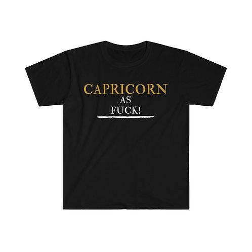 Capricorn As Fuck Unisex Softstyle T-Shirt