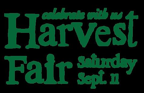 Harvest Fair Saturday Sept. 11
