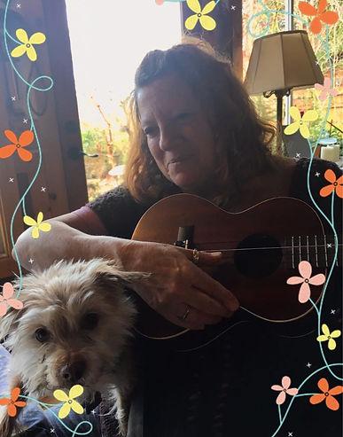 Jean Mann with uke and dog.jpeg