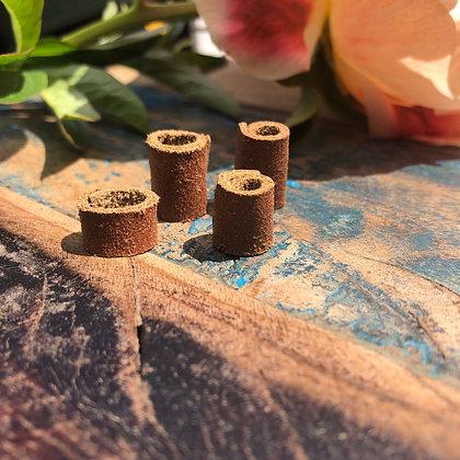Dreadlock beads leer 4 stuks