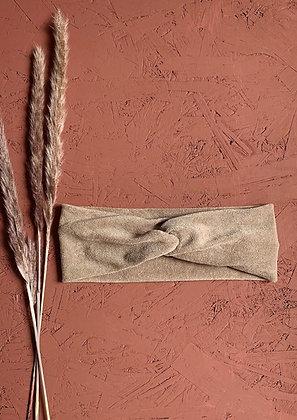 Haarband zand badstof