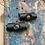 Thumbnail: Leren Dreadlock Beads 2 stuks green