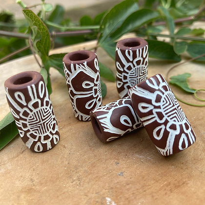 Dreadbead Brown Tribal flower