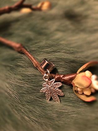 Dreadlock bead Hemp Leaf