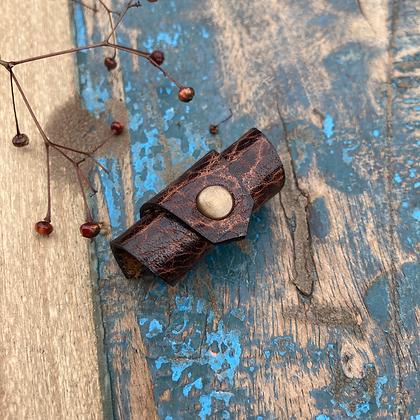 Leren Dreadlock bead