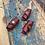 Thumbnail: Leren dreadlock beads 3 stuks Red