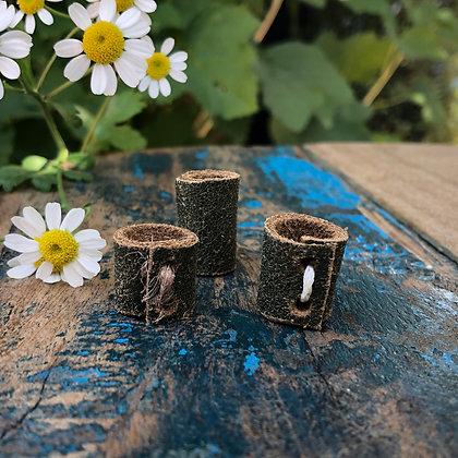 Dreadlock beads leer 3 stuks