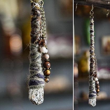 Dreadlock Jewelery Bead-wrap grey 25cm