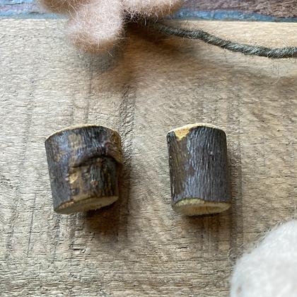 Dreadlock beads hout 2  stuks