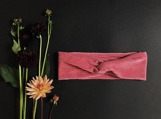 Haarband oud roze corduroy