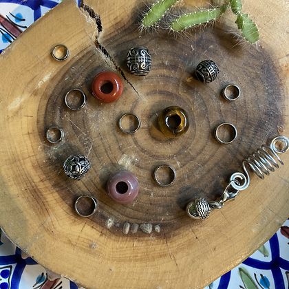 Set Dreadlock beads Warm