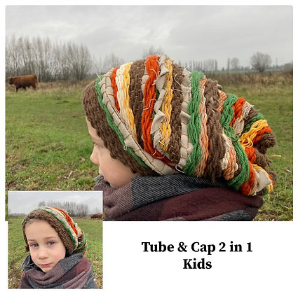 Handgeweven Tube/ Dreadcap The magical 2 in 1 KIDS