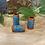 Thumbnail: Dreadlock bead Terracotta Blue