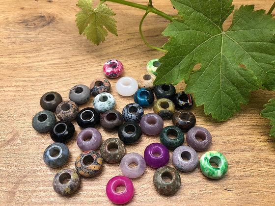 Gemstone - mix van 5 gemstones 14 x 8mm