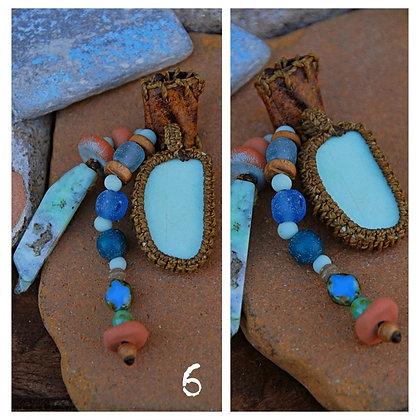 Dreadbead Greek sea pottery bead