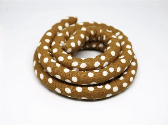Spiralock Mustard Polka Dots 30, 40 & 80 cm